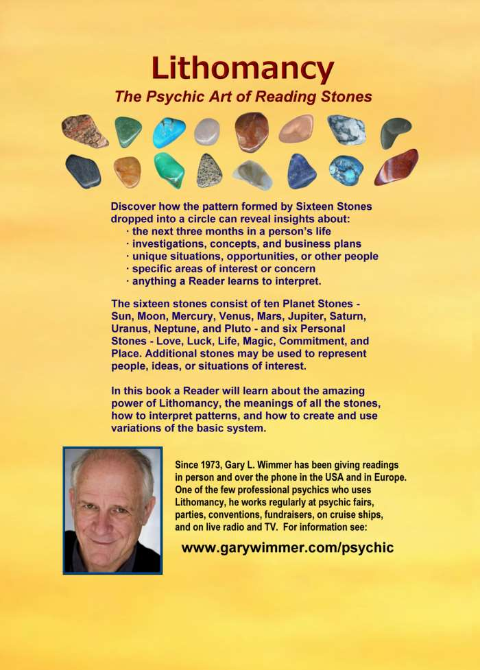 Lithomancy, the Psychic Art of Reading Stones by Gary L. Wimmer
